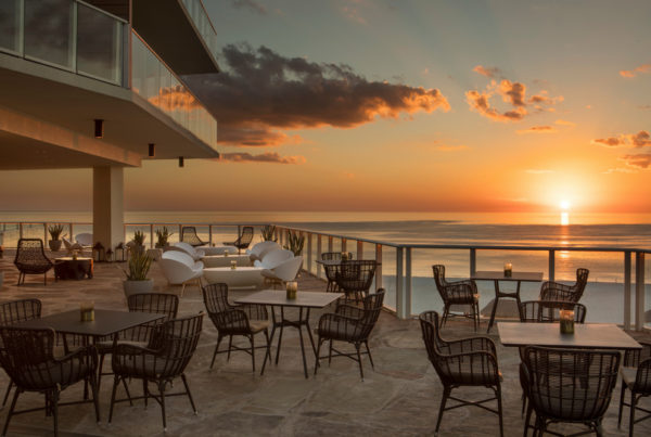Health and safety protocols led to the Incentive Research Foundation delivering a COVID-free Invitational at the JW Marriott Marco Island, Florida. Image here shows the hotel's fifth-floor Tesoro Terrace. Photo courtesy of Marriott.
