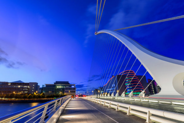 Photo by SAKhanPhotography | istock. Samuel Beckett Bridge Dublin