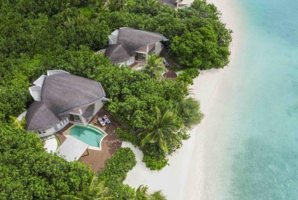 Beach Pool Villa Sunrise - Elevated View. Photo courtesy of Marriott International Inc.