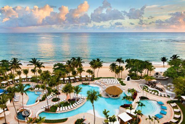 El San Juan Hotel Pools and Beach. Photo courtesy of Fairmont Hotels & Resorts/Accor.