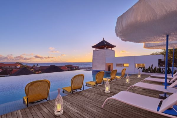 Image of Aloft Bali Seminyak at Sunset. Photo courtesy of Marriott International.