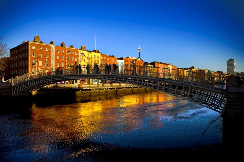 Image of Ha'Penny Bridge, Dublin, Ireland. Photo courtesy of Meet in Ireland.