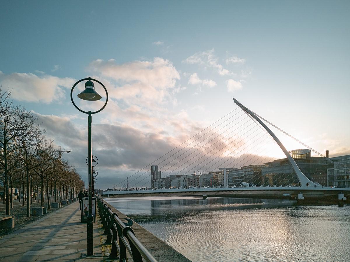 Samuel Beckett Bridge, Dublin, Ireland. Photo courtesy of Meet in Ireland.