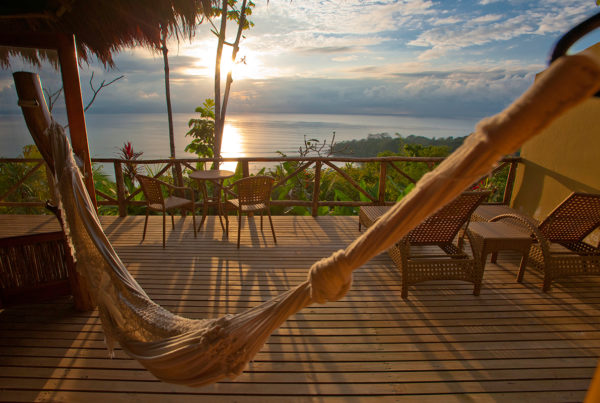 Premio DMC is looking forward to sharing Costa Rica's pura vida lifestyle with MICE planners and their groups. Image: Hammock on deck of resort in Costa Rica, view of ocean.