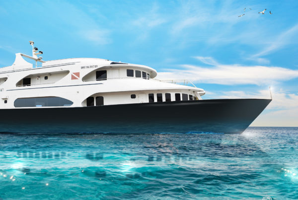 Image of Kontiki Expeditions' 128-foot luxury yacht courtesy of Kontiki Expeditions.