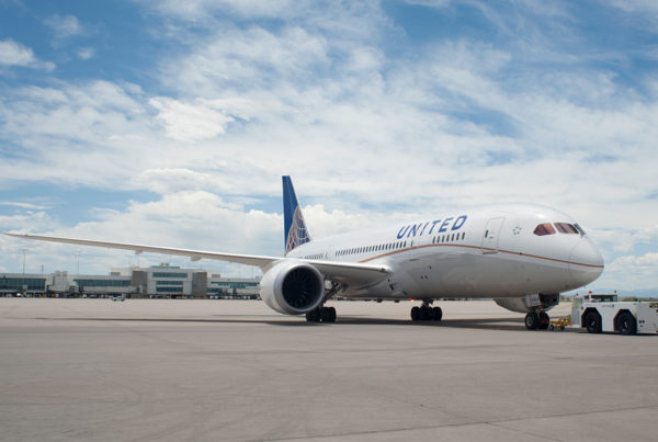 International routes are being added to United Airlines' September schedule. Image of United Airlines' Boeing 787 at Denver International Airport.