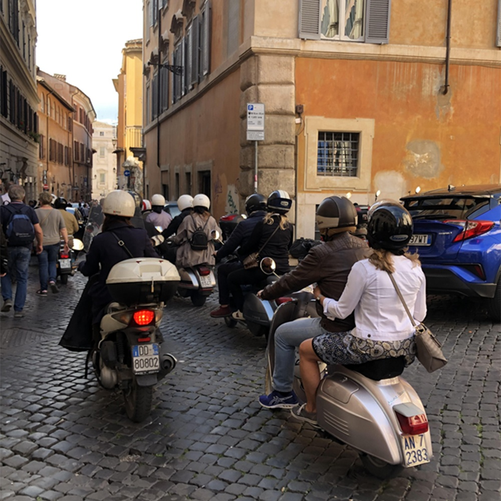 Rome - Vespa Ride. Photo courtesy of EMI Meetings & Incentives.