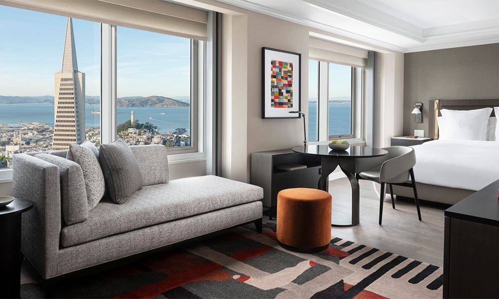 Secpnd Four Seasons in San Francisco has suites and rooms with a view. Photo courtesy of Four Seasons Hotels & Resorts.