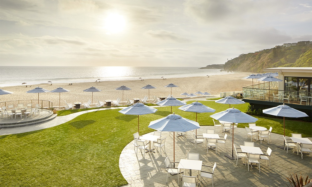 Monarch Beach Resort is transitioning to a Waldorf Astoria property. Its amenities include a beach club (shown here), multiple pools, and seven restaurants. Photo copyright Hilton2020.