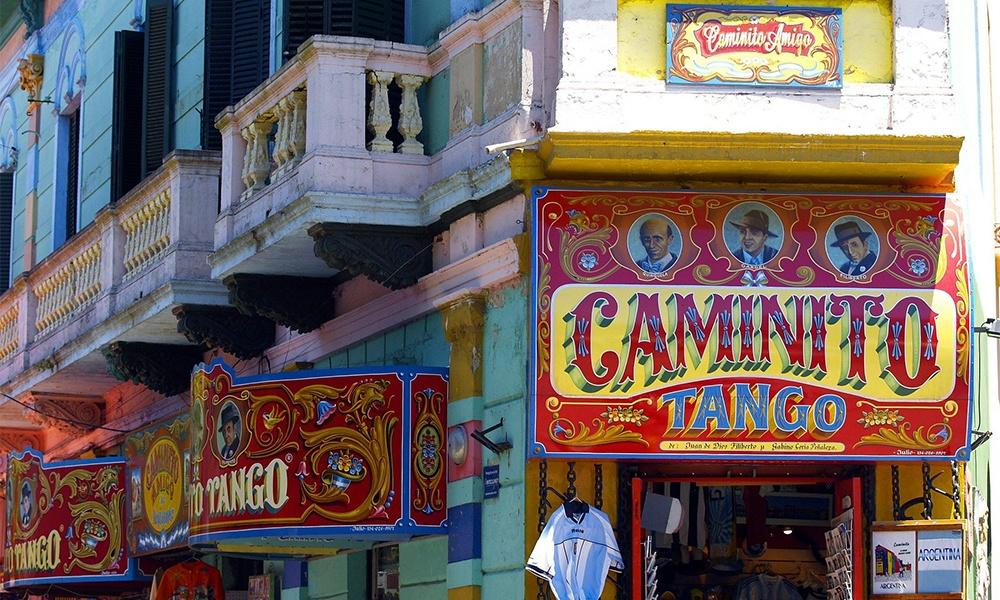 Buenos Aires was founded in 1536 and since that time grown into a welcoming cosmopolitan city. This image shows shops on Caminito Street in the city's La Boca neighbourhood. Photo courtesy of Faus Incentives DMC.