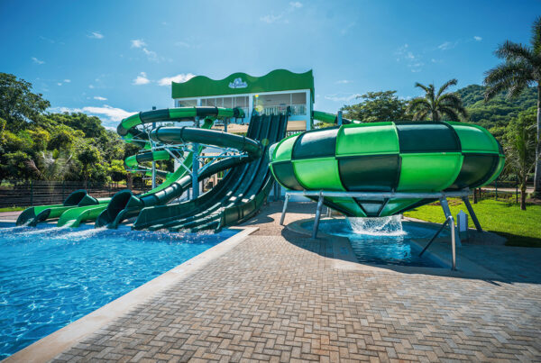 Waterpark at Rui properties in Costa Rica can be used for a range of team-building activities. Photo courtesy of Rui.