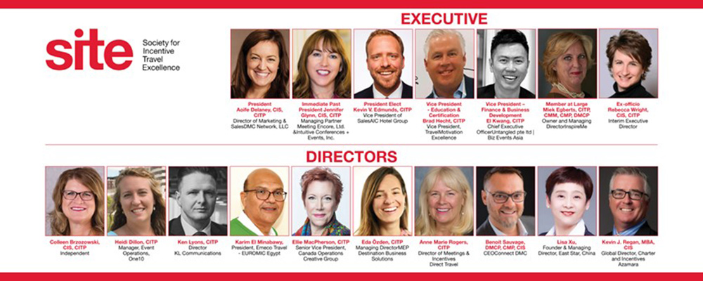 Society for Incentive Travel Excellence announces 2021 Executive and International Board of Directors.
