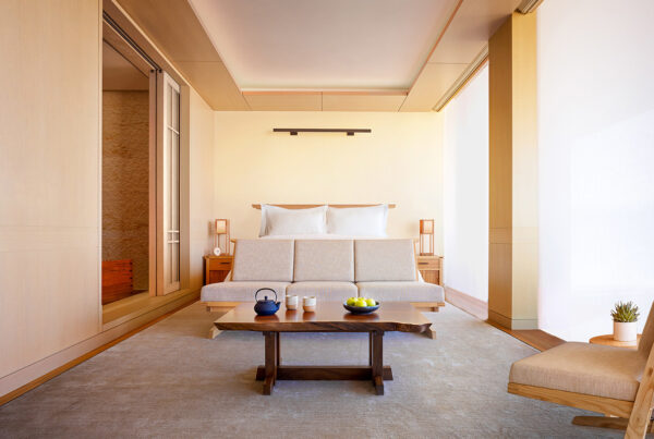 Nobu Hospitality is bringing its hotel and restaurant brand to SIGNA Real Estate's Elbtower in Hamburg, Germany. Image here is of a Nobu Hotel guestroom. Image courtesy of Nobu.
