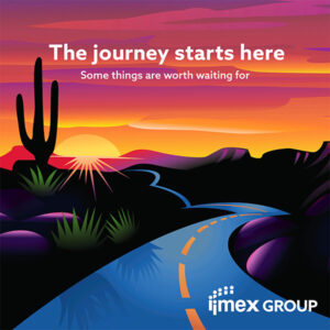 IMEX America is back in business. The 10th edition of the show will run November 9-11, 2021 at Mandalay Bay, Las Vegas. Image shown here is promotional poster supplied by IMEX Group.