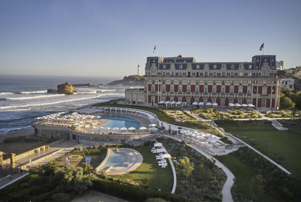 Independent collection brands from Hyatt will undergo expansion in the coming years. The Hotel du Palais Biarritz (France) will open in 2021. Image of exterior of property courtesy of Hyatt.