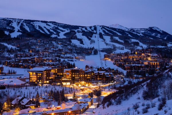 SITE Global members gathered at Aspen Snowmass (resort village shown here) for the association's first face-to-face event since the start of the COVID-19 pandemic. Photo by Jeremy Swanson. Used courtesy of Aspen Snowmass.
