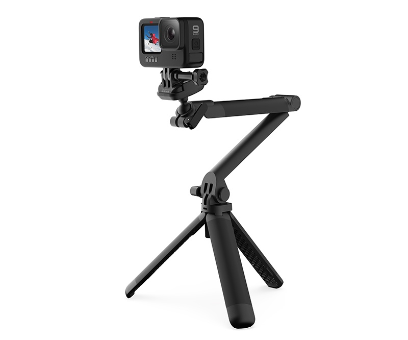 GoPro has updated its popular 3-Way tripod. Image shows 3-Way 2.0. Photo courtesy of GoPro.