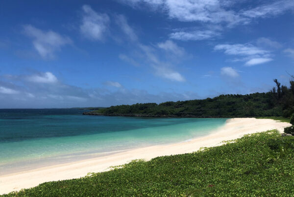 Rosewood Miyakojima is slated to open on Miyako Island in 2024. Image here shows the beach the property is being built on. Photo courtesy of Rosewood Hotels & Resorts.