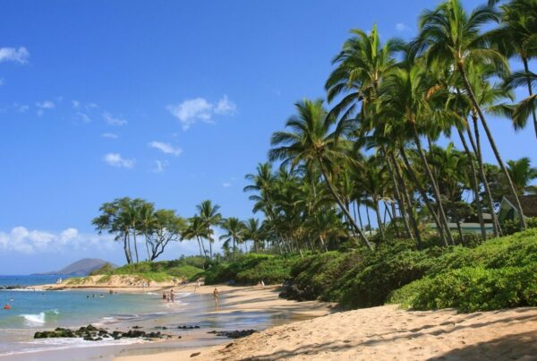 WestJet has increased flights to Hawaii, beginning in December 2021. Image here shows a beach on the island of Maui. Photo by ejs9 | Canva.
