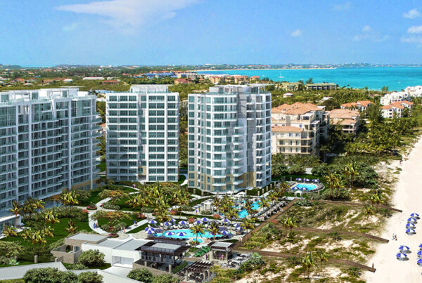 Turks & Caicos is now home to a The Ritz-Carlon brand property. Image here shows exterior of property and beach. Photo courtesy of Marriott International