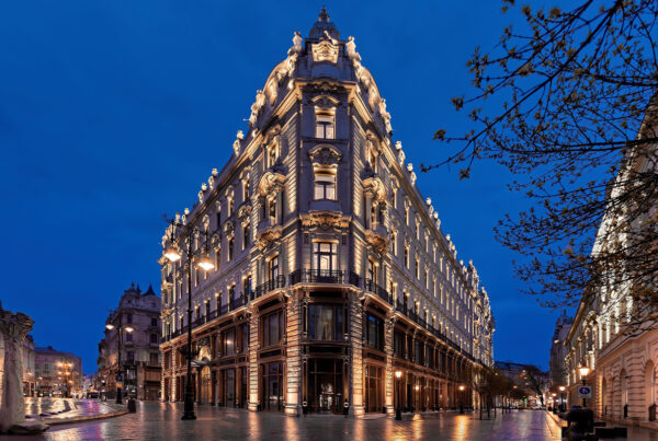 The Luxury Collection Hotels & Resorts debuted in Hungary in June 2021 with the opening of the Matild Palace, a Luxury Collection Hotel, Budapest. Image here shows the exterior of the Matild Palace. Photo is courtesy of Marriott International