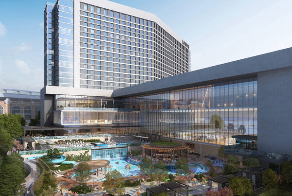 Loews Hotels & Co. has officially broken ground on the Loews Arlington Hotel and Convention Center. This image is a rendering of the project provided by Loews Hotels.